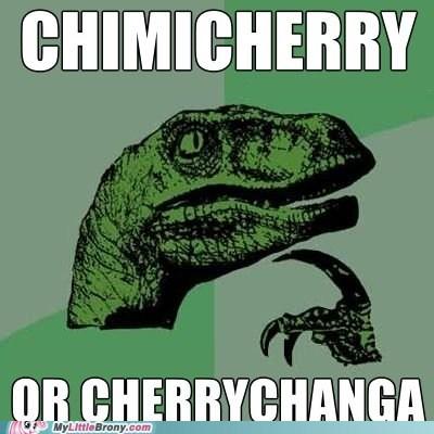 cherrychanga,chimicherry,meme,philosoraptor,pinkie pie