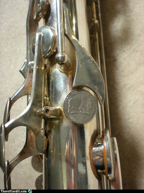 Saxophone thumbrest repair - really adds value! (and a richer sound!)