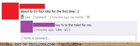 facebook,four loko,gross,toilet