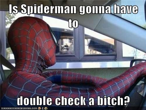 double check,food,Spider-Man,Super-Lols