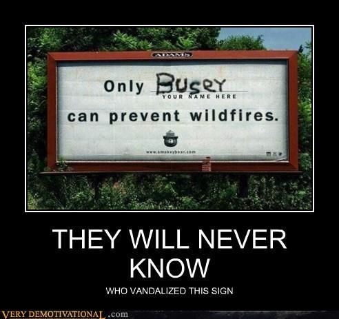 gary busey hilarious sign vandal - 5725398272