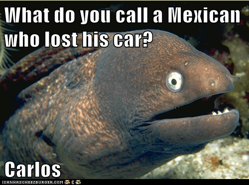 car,eel,jokes,Lame Pun Coon,Mexican
