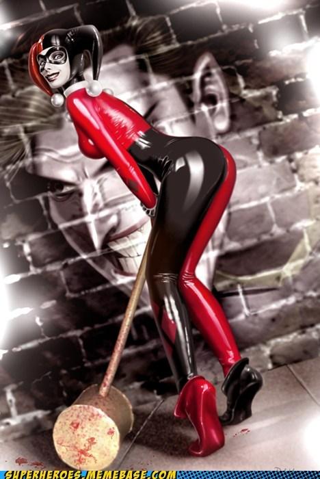 Awesome Art hammer Harley Quinn joker shufflin - 5726247936
