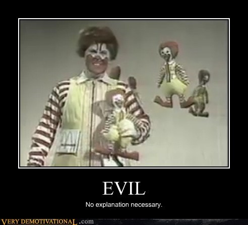 evil,explanation,Ronald McDonald,Terrifying