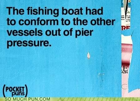 boat boats cliché homophone peer peer pressure pier pressure - 5727661824