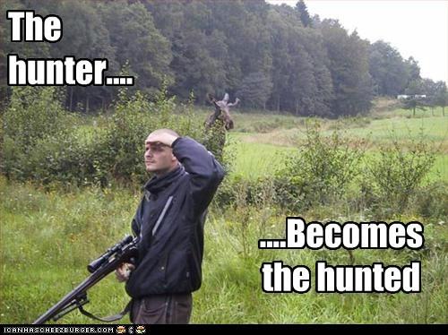 human hunter hunter becomes the hunted hunting moose - 5728304384
