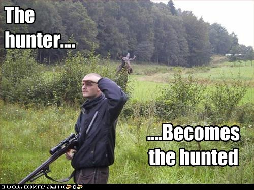 human hunter hunter becomes the hunted hunting moose - 5728304384