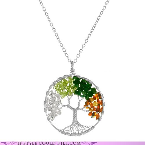 best of the week cool accessories four seasons necklaces tree - 5728464896