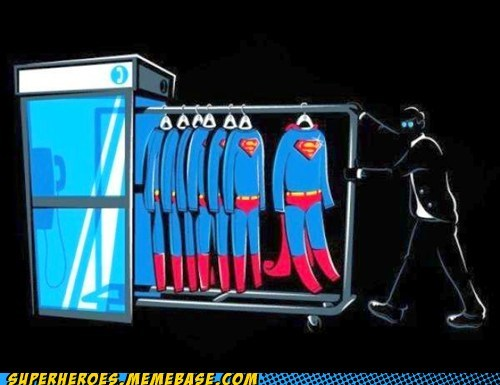Awesome Art fit phone booth suits superman - 5728513024