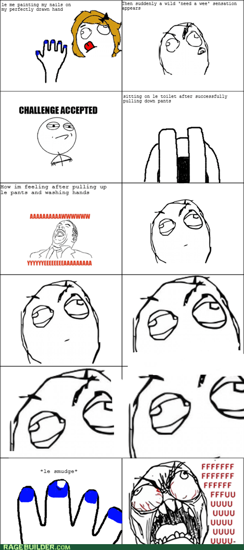 Challenge Accepted girl problems peetimes Rage Comics - 5728588544