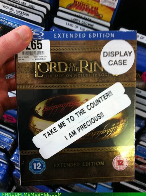 dvd case It Came From the Interwebz Lord of the Rings Precious - 5728610816