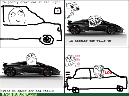 car driving fancy fu guy lol Rage Comics - 5728695040