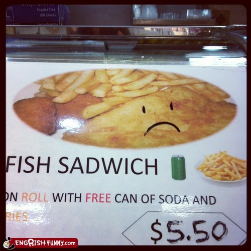 food service mislabeled misspelled sadwich