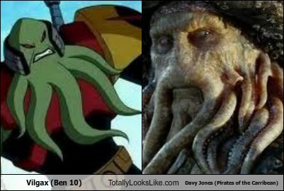 Vilgax (Ben 10) Totally Looks Like Davy Jones (Pirates of the Carribean)