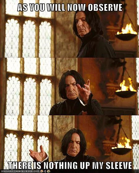 Alan Rickman Harry Potter magic tricks nothing observe snape - 5729400832