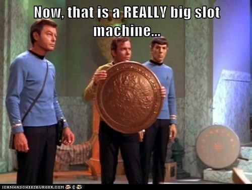 big Captain Kirk coin DeForest Kelley giant Leonard Nimoy McCoy Shatnerday slot machine Spock Star Trek William Shatner - 5730481664