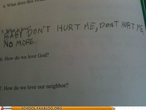 g rated love lyrics night at the roxbury School of FAIL sunday school what is love worksheet - 5731942656