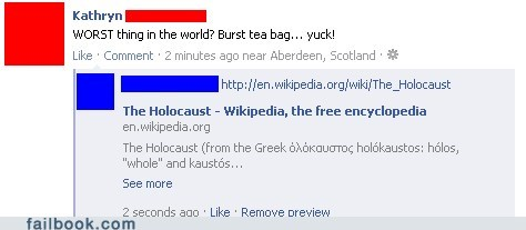 almost holocaust tea worst thing ever
