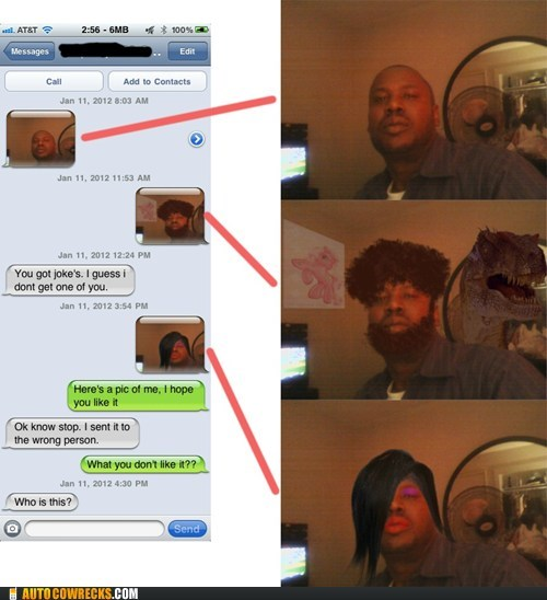 my little pony,photoshop,picture,picture message,stranger,t rex,wrong number