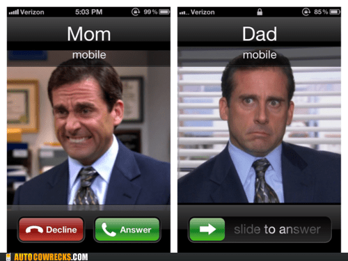 AutocoWrecks dad g rated mom parent parenting steve carell the office
