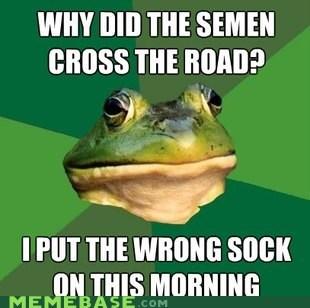 foul bachelor frog gross sermen socks - 5732619264