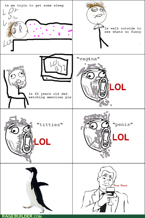 american pie,dad,Rage Comics,socially awkward penguin