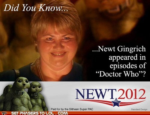 alien,best of the week,did you know,doctor who,episodes,news,newt gingrich,politics,slithene,the doctor