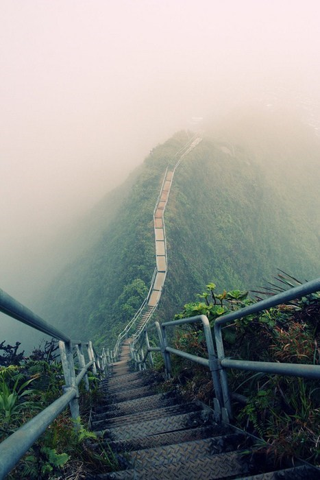 fog getaways hill hillside hilltop stairs unknown location walk - 5733311232