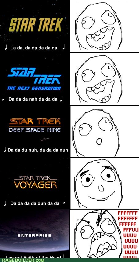 fu guy,Rage Comics,Star Trek,themesong