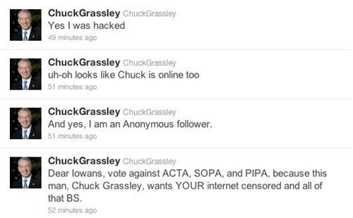 charles grassley hack Nerd News senator twitter