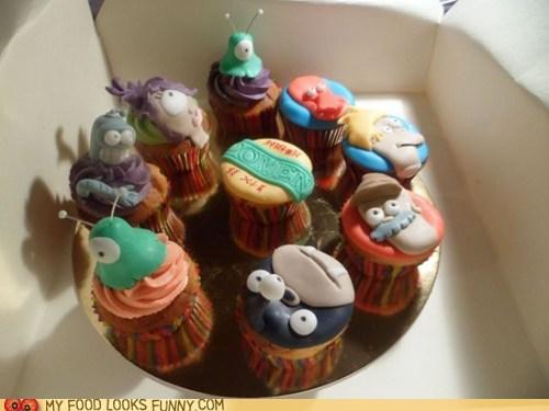 cartoons characters cupcake fondant futurama TV - 5733515776