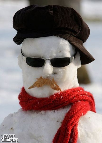 jamie hyneman mythbusters science snow snowman winter - 5733568768