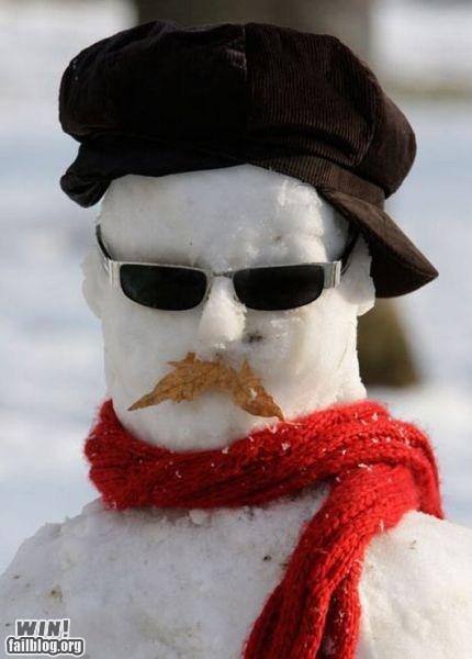 jamie hyneman mythbusters science snow snowman winter - 5733568768