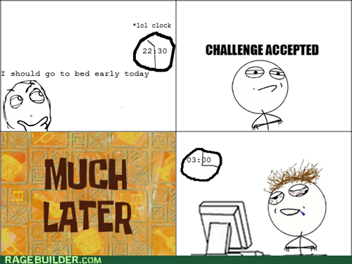best of week,Challenge Accepted,challenge completed,Rage Comics,time
