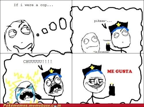 cop me gusta pikachu rage comic Rage Comics taser - 5733645824