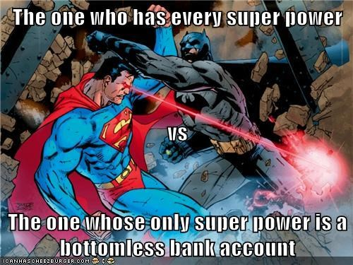 bank account batman bruce wayne Clark Kent Super-Lols superman - 5733860608