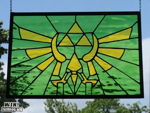 art design g rated legend of zelda nerdgasm nintendo stained glass video games win zelda - 5733981440