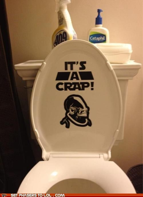 admiral ackbar,crap,its a trap,star wars,toilet