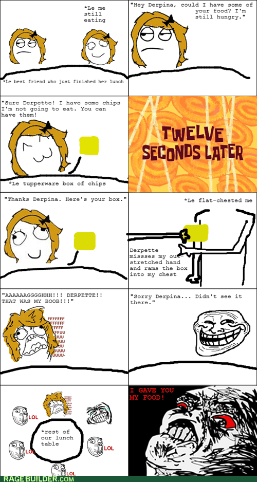 food,lunch,Rage Comics,raisin rage,troll