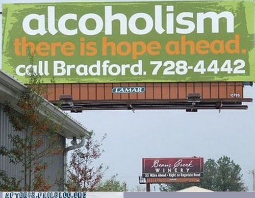 Ad alcohol alcoholism billboard booze wine - 5734087936