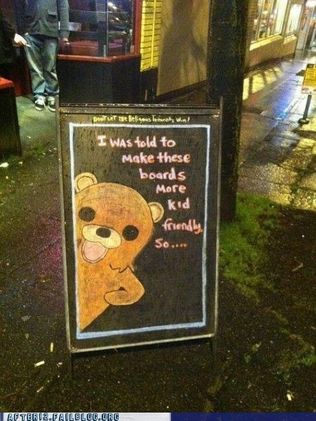 after 12 bar kid-friendly pedobear pedobear approved pub sign - 5734089216