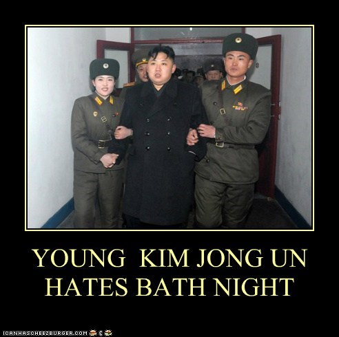 bath bath time kim jong-un korea North Korea Pundit Kitchen - 5734424064