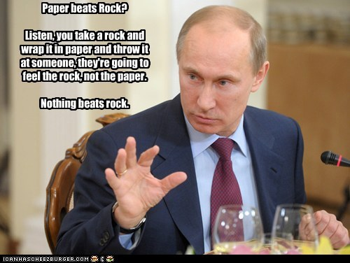 political pictures rock paper scissors Vladimir Putin - 5734466816