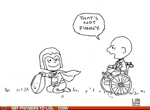 charles xavier,charlie brown,football,funny,lucy,Magneto,professor x,wheelchair,x men
