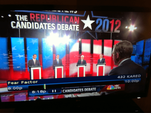 2012 Presidential Race,fear factor,Humorous Juxtaposition,Republican Candidates Deb