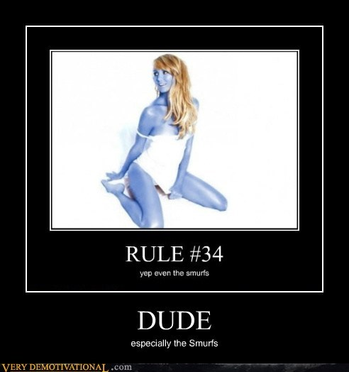 duh hilarious Rule 34 smurfs