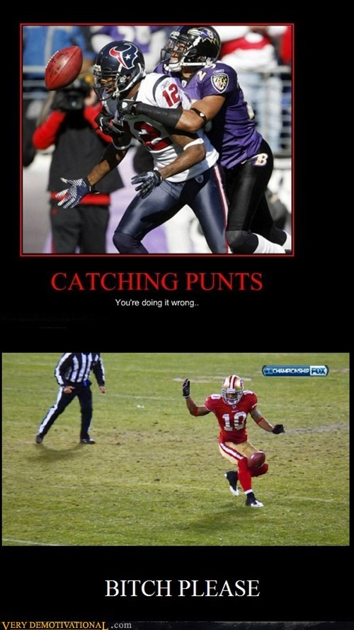 catching football hilarious punts sooper bowl wtf - 5735145472