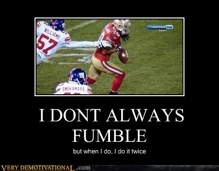 football fumble hilarious sooper bowl twice wtf