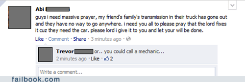 car trouble,prayer,religion