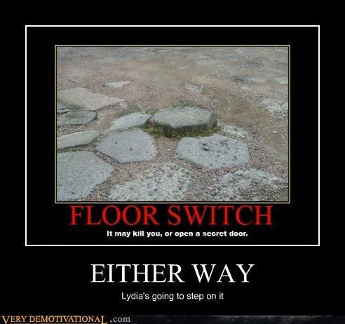 floor switch hilarious lydia Skyrim step on it - 5735625984